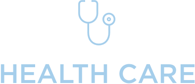 CastleBranch–Health Care Industry Icon of stethoscope and Health Care text