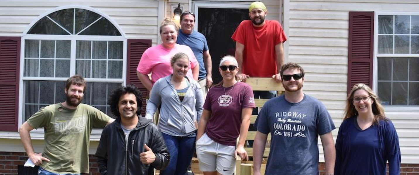 Our Story–CastleBranch Team members volunteering with local organizations